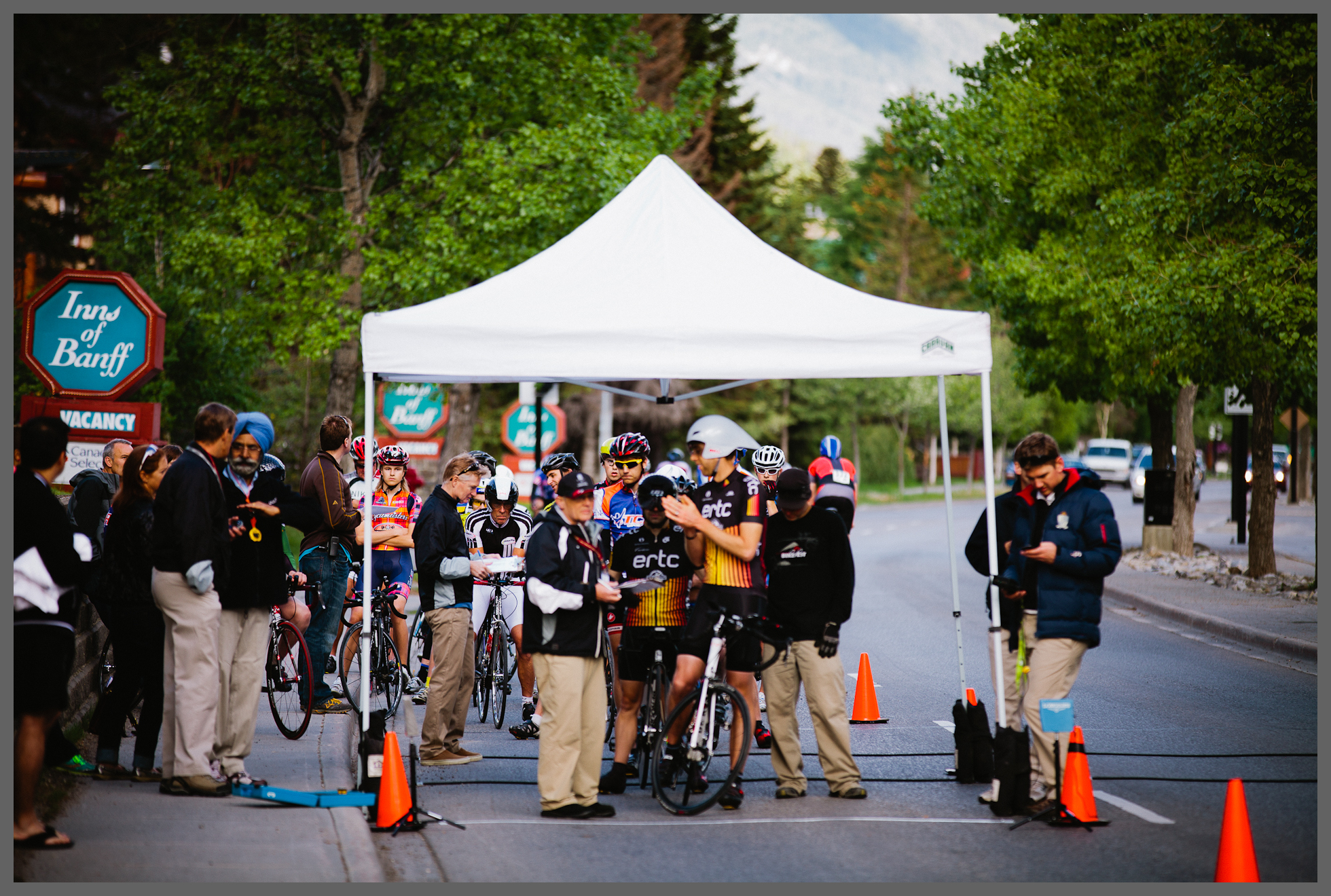 Start of the Individual Time Trial at Banff Bikefest